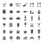Restaurang kök ikoner